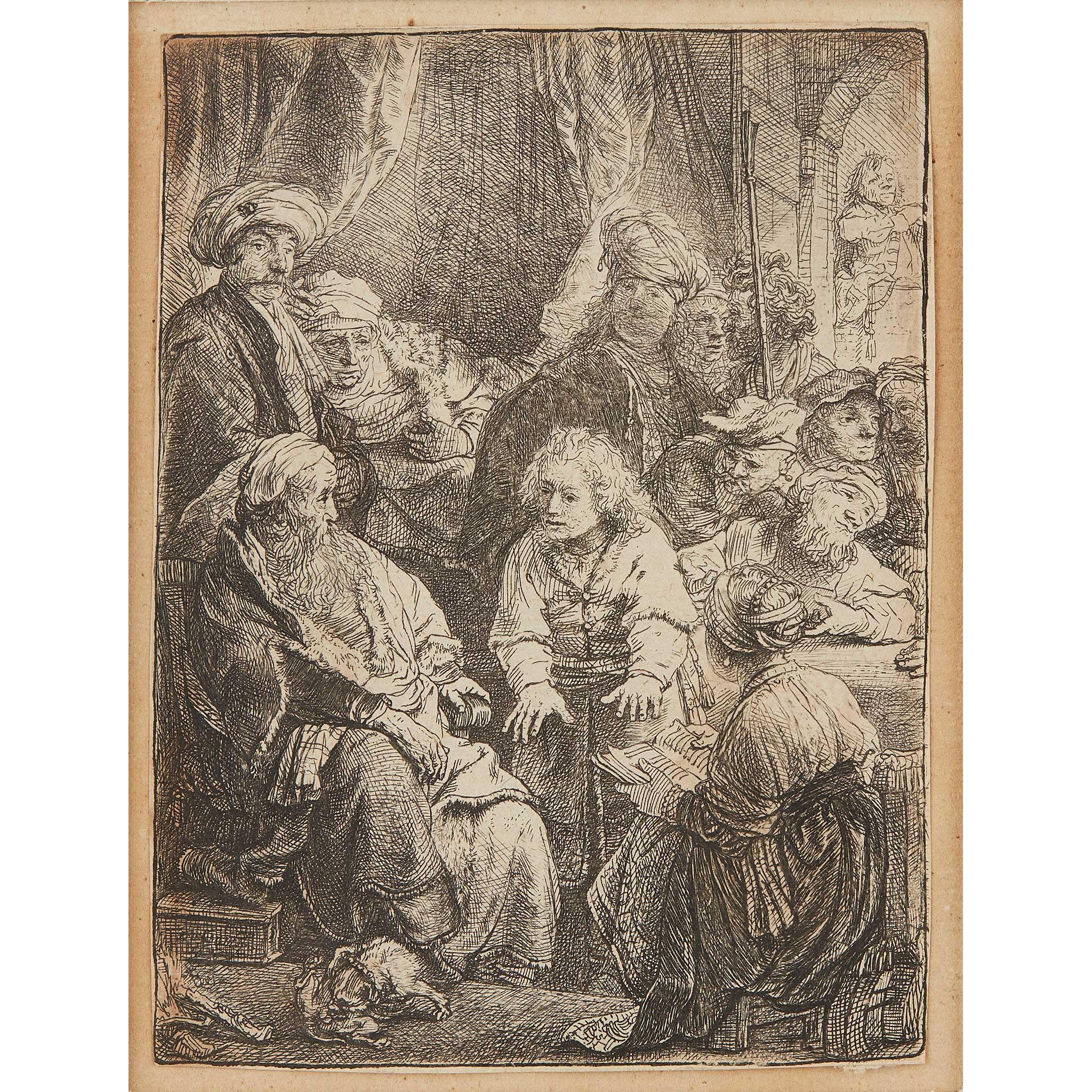 REMBRANDT VAN RIJN (DUTCH 1606-1669) JOSEPH TELLING HIS DREAMS