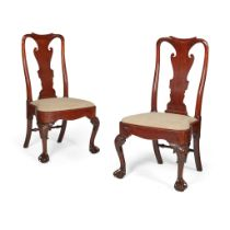 PAIR OF GEORGE II MAHOGANY SIDE CHAIRS 2ND QUARTER 18TH CENTURY