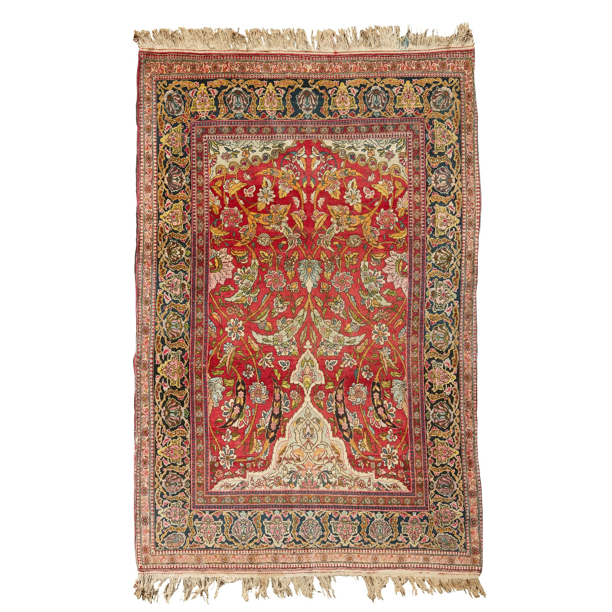 KIRMAN PRAYER RUG CENTRAL PERSIA, LATE 19TH/EARLY 20TH CENTURY