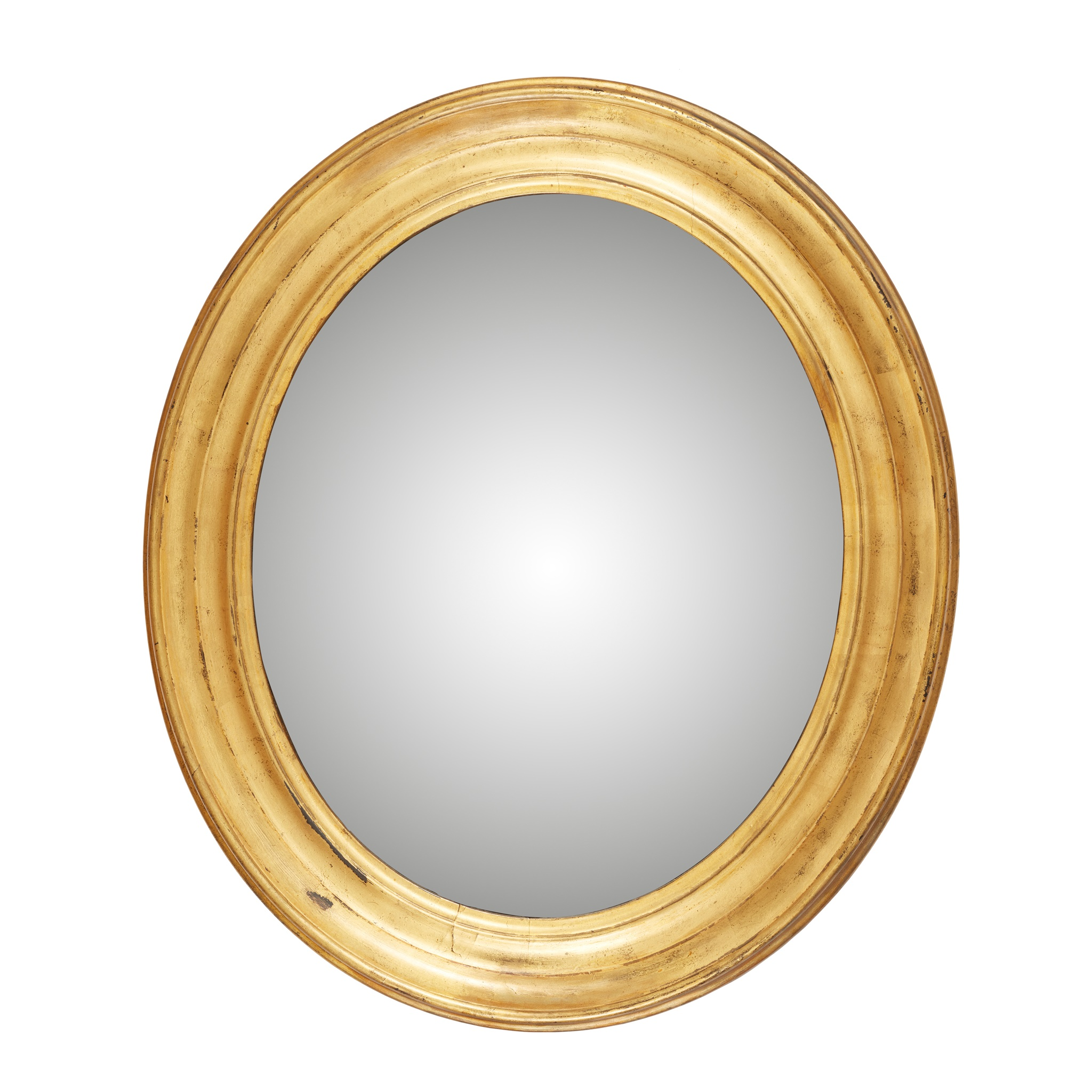 OVAL GILTWOOD CONVEX MIRROR 19TH CENTURY