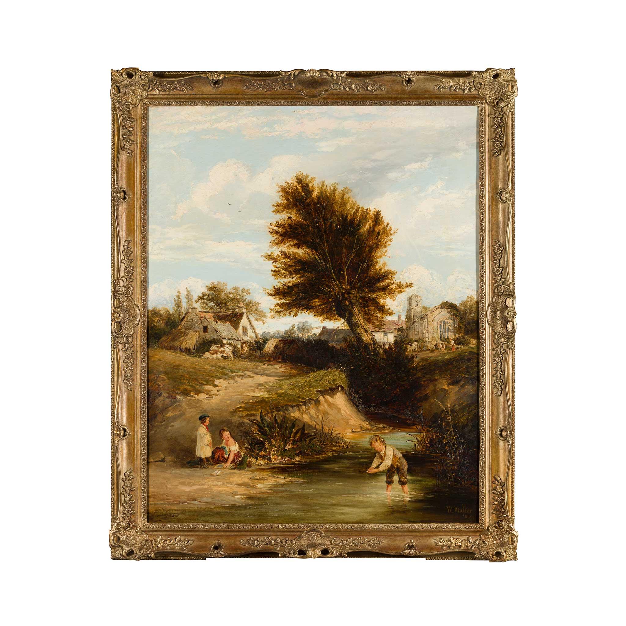 WILLIAM JAMES MULLER (BRITISH 1812-1845) GUDDLING FOR TROUT - Image 2 of 3