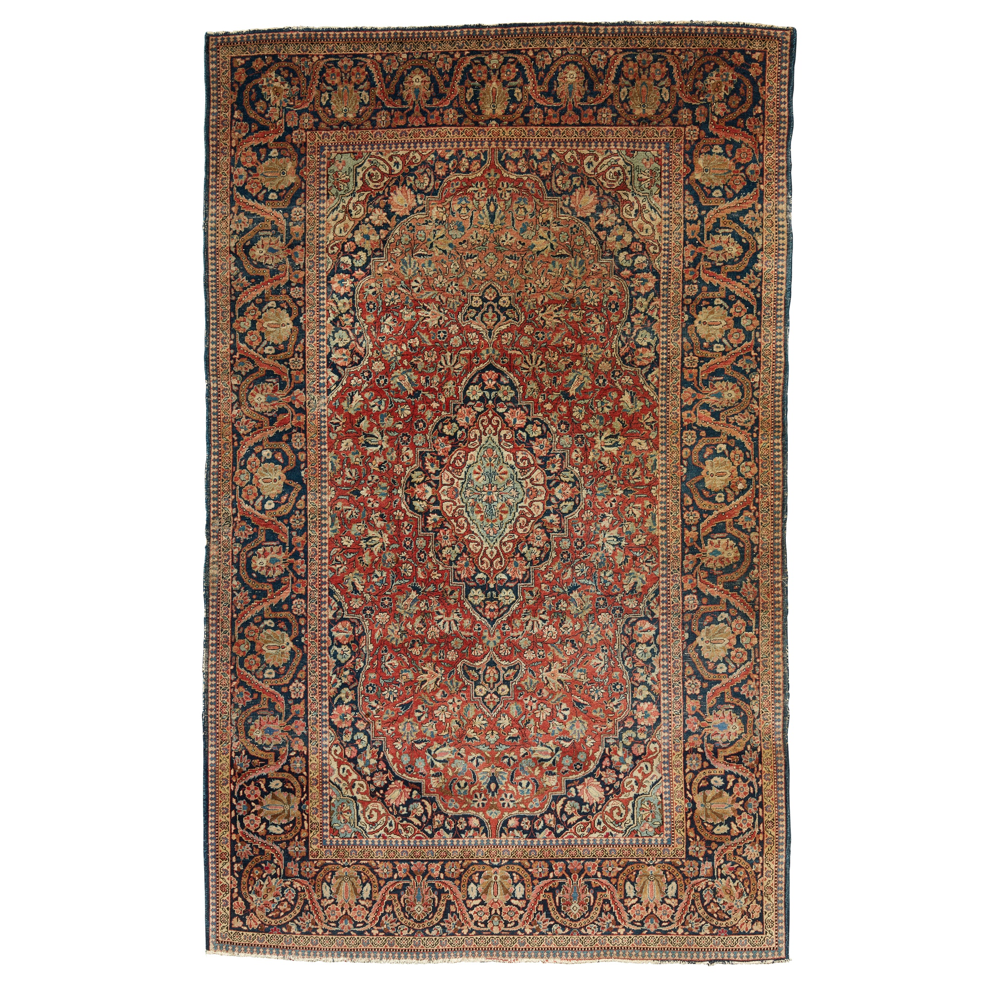 KASHAN RUG CENTRAL PERSIA, LATE 19TH/EARLY 20TH CENTURY