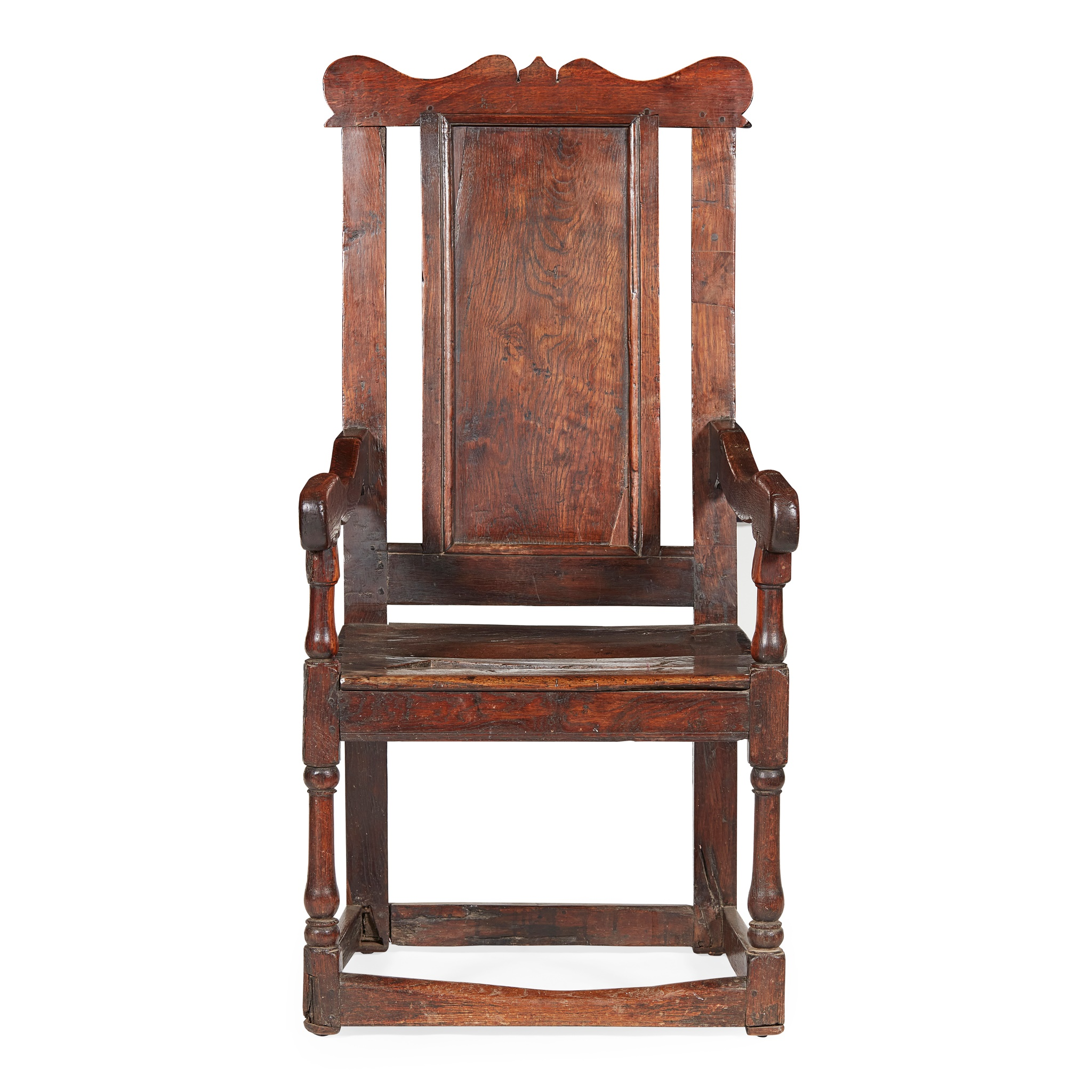 SCOTTISH PROVINCIAL OAK ARMCHAIR EARLY 18TH CENTURY - Image 2 of 2