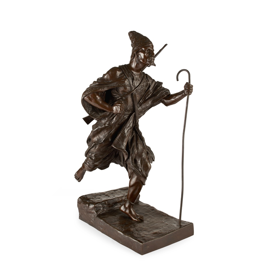 LARGE CONTINENTAL BRONZE FIGURE OF A TURK LATE 19TH/ EARLY 20TH CENTURY