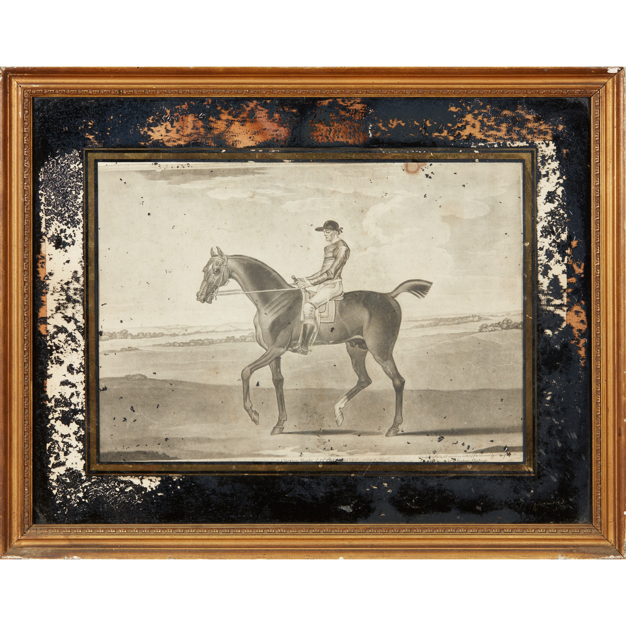 COLLECTION OF ELEVEN MEZZOTINT EQUESTRIAN PRINTS LATE 18TH CENTURY - Image 8 of 8