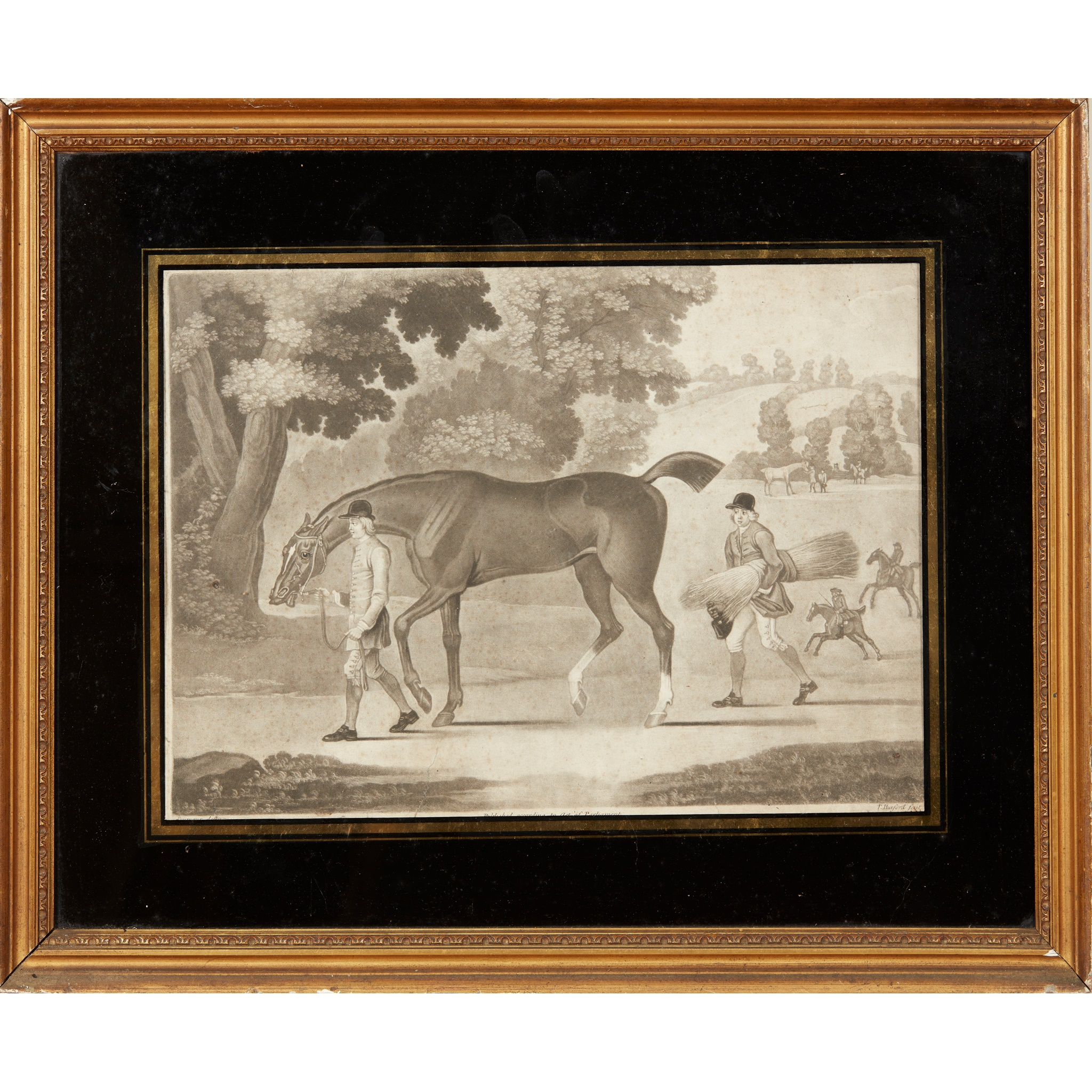 COLLECTION OF ELEVEN MEZZOTINT EQUESTRIAN PRINTS LATE 18TH CENTURY