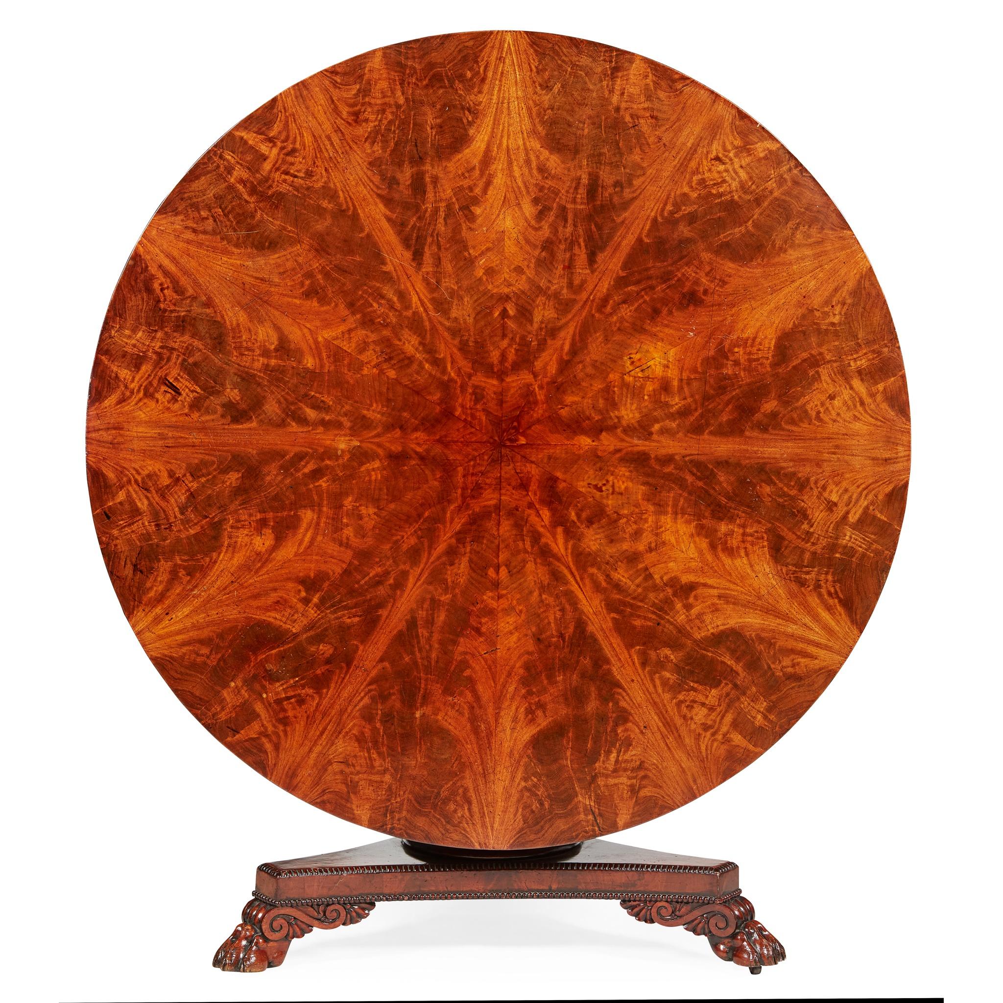 LATE REGENCY MAHOGANY BREAKFAST TABLE EARLY 19TH CENTURY