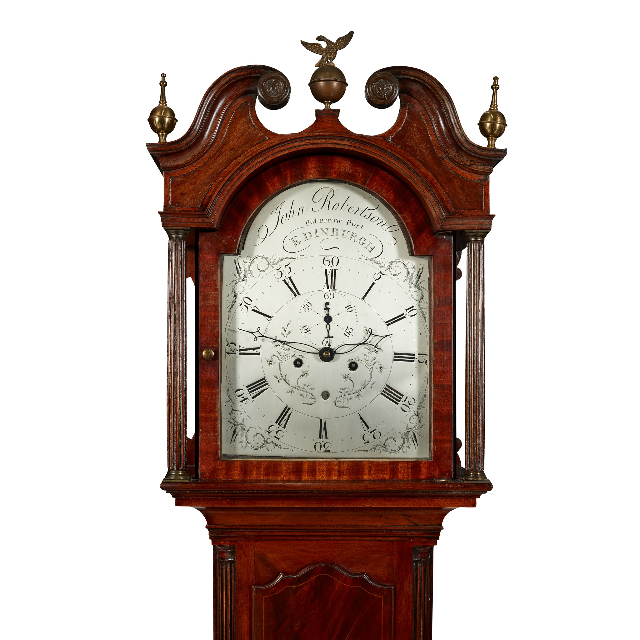 SCOTTISH GEORGE III MAHOGANY AND LINE INLAID LONGCASE CLOCK, BY JOHN ROBERTSON, EDINBURGH EARLY - Image 2 of 2
