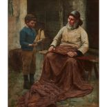 EDWIN HARRIS (BRITISH 1855-1906) THE MODEL YACHT