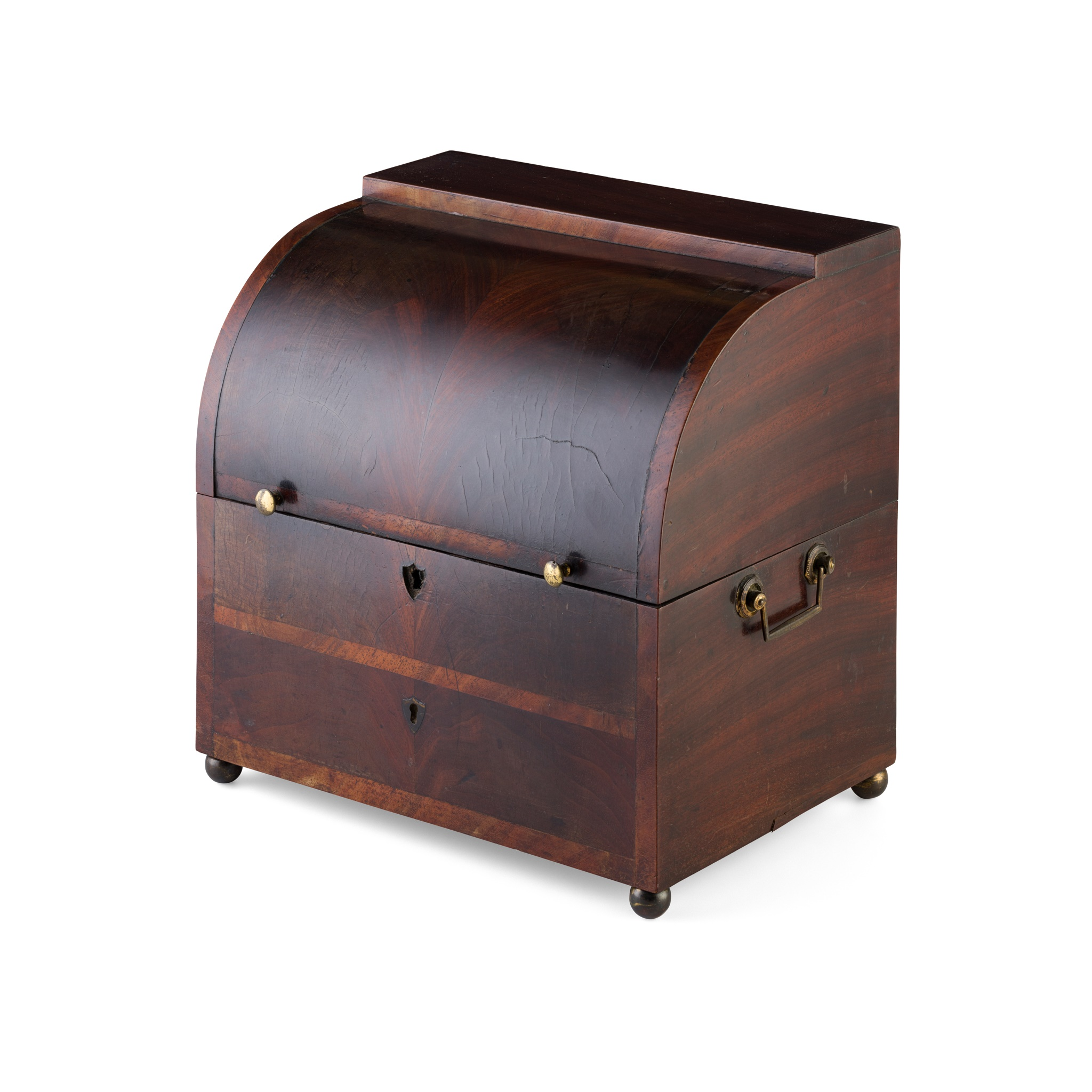 REGENCY MAHOGANY DECANTER BOX EARLY 19TH CENTURY - Image 2 of 2