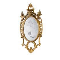 GEORGE III GILTWOOD MIRROR MID 18TH CENTURY, IN THE MANNER OF THOMAS JOHNSON