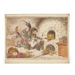 COLLECTION OF SATIRICAL ENGRAVINGS, JAMES GILLRAY AND OTHERS EARLY 19TH CENTURY