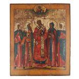 RUSSIAN ICON OF ST JOHN CHRYSOSTOMOS 19TH CENTURY