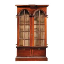 LATE GEORGE II MAHOGANY LIBRARY BOOKCASE MID 18TH CENTURY