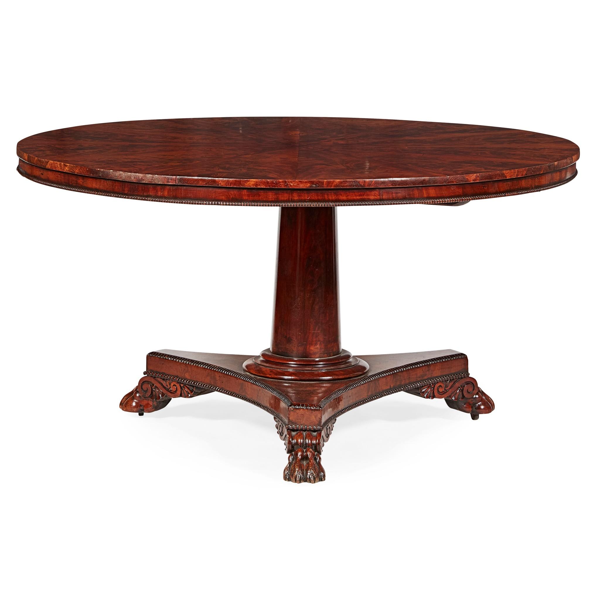 LATE REGENCY MAHOGANY BREAKFAST TABLE EARLY 19TH CENTURY - Image 2 of 2