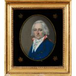 ENGLISH SCHOOL, EARLY 19TH CENTURY PORTRAIT OF MR CHARLES CLARK, HALF-LENGTH IN A BLUE JACKET; AND