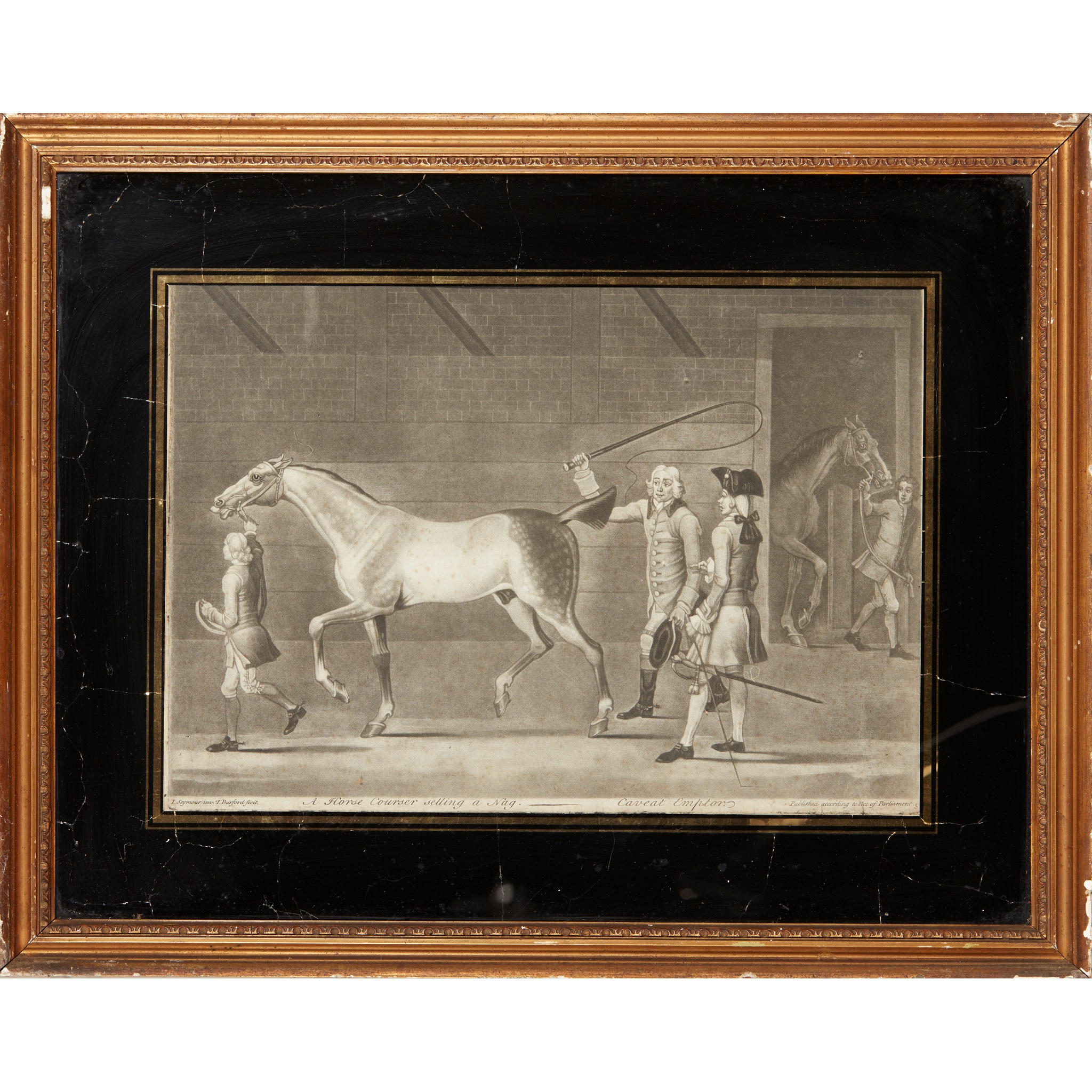 COLLECTION OF ELEVEN MEZZOTINT EQUESTRIAN PRINTS LATE 18TH CENTURY - Image 5 of 8