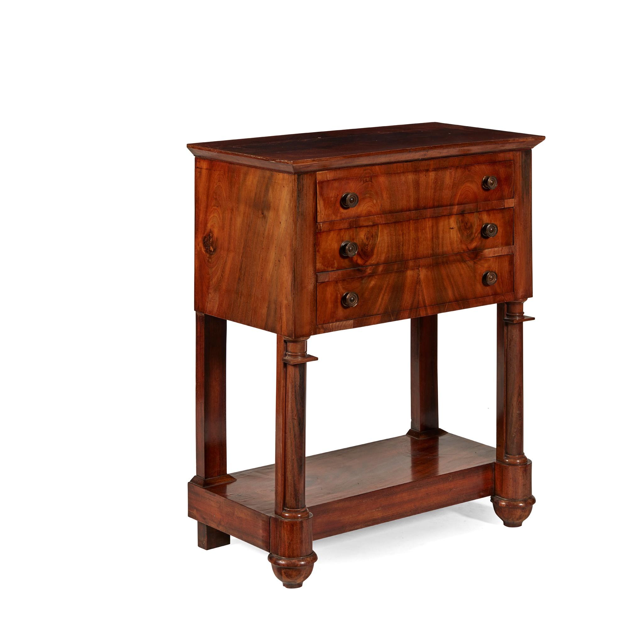 FRENCH EMPIRE MAHOGANY DRESSING TABLE EARLY 19TH CENTURY