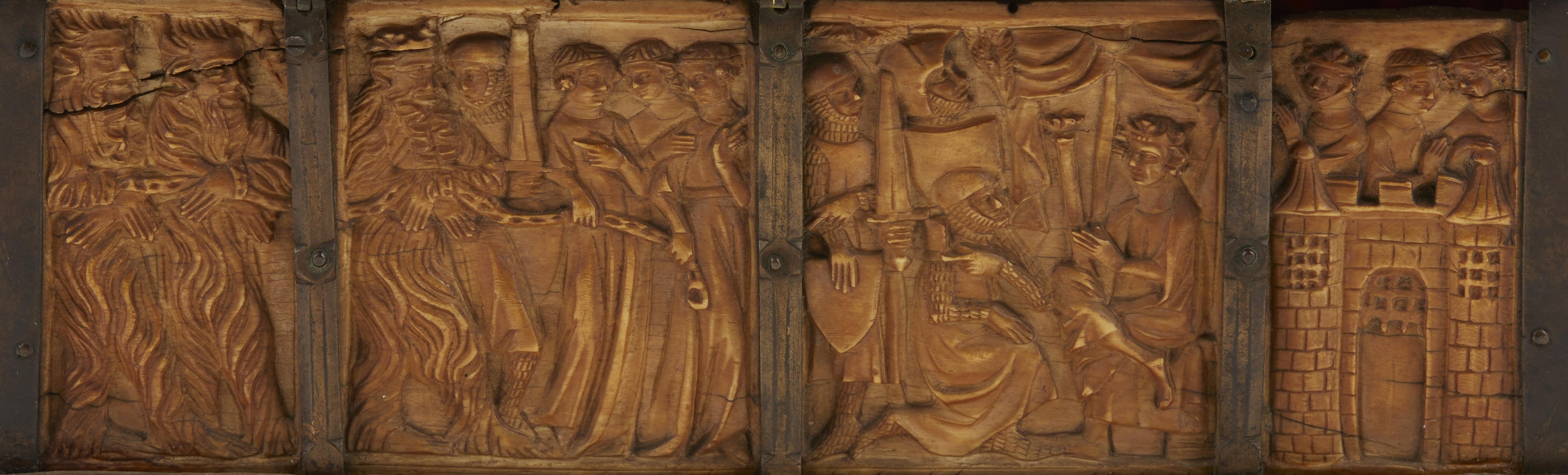 Y ◆ RARE AND IMPORTANT FRENCH GOTHIC IVORY COMPOSITE CASKET CIRCA 1330 - Image 2 of 8