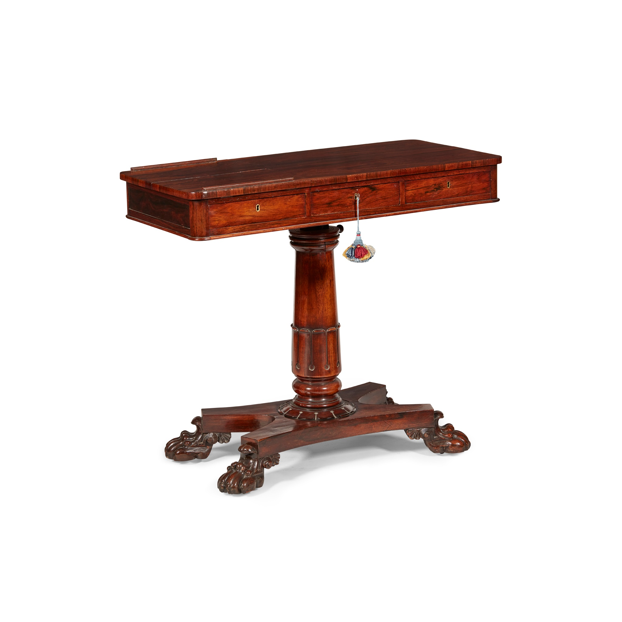 Y GEORGE IV ROSEWOOD READING TABLE EARLY 19TH CENTURY - Image 2 of 4