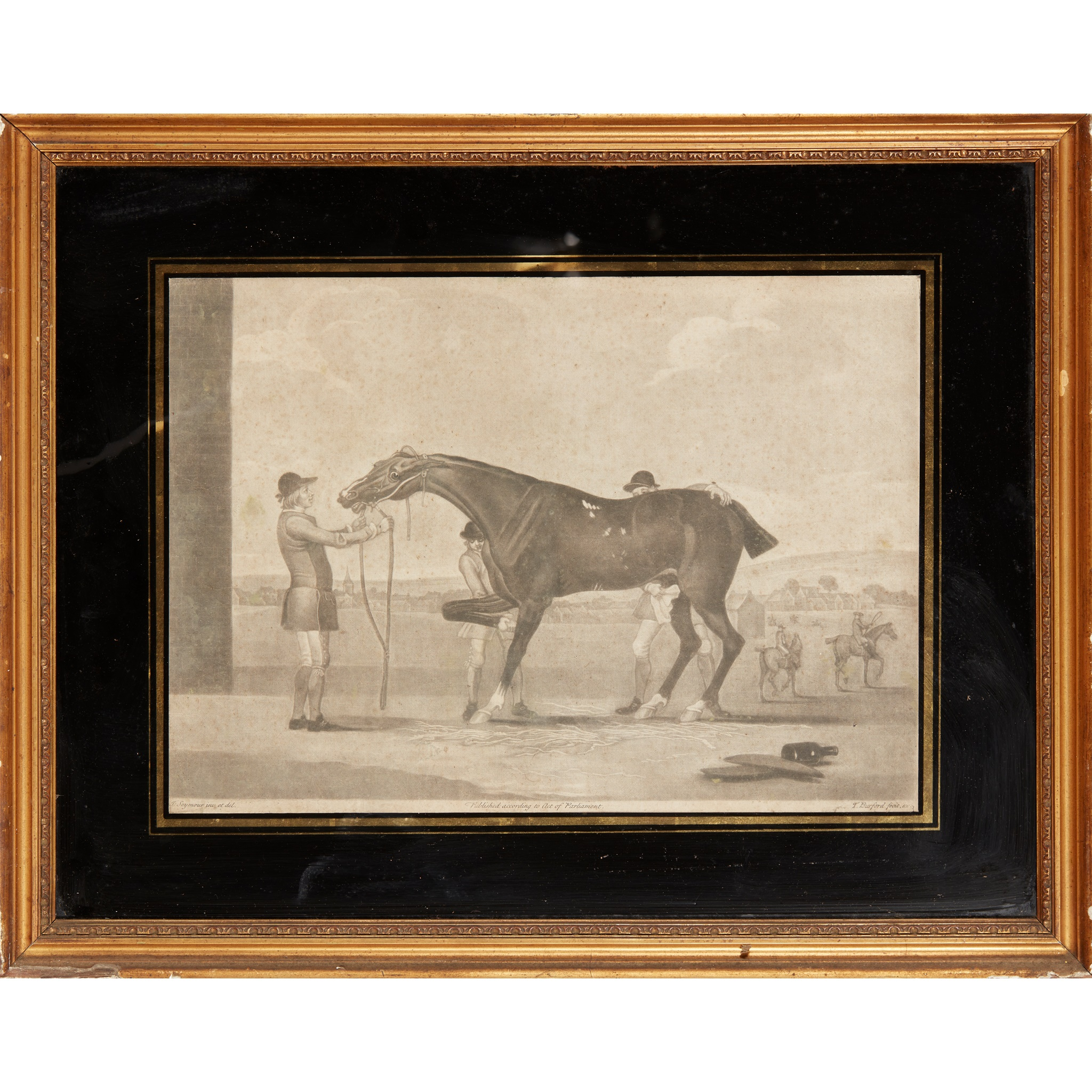COLLECTION OF ELEVEN MEZZOTINT EQUESTRIAN PRINTS LATE 18TH CENTURY - Image 2 of 8