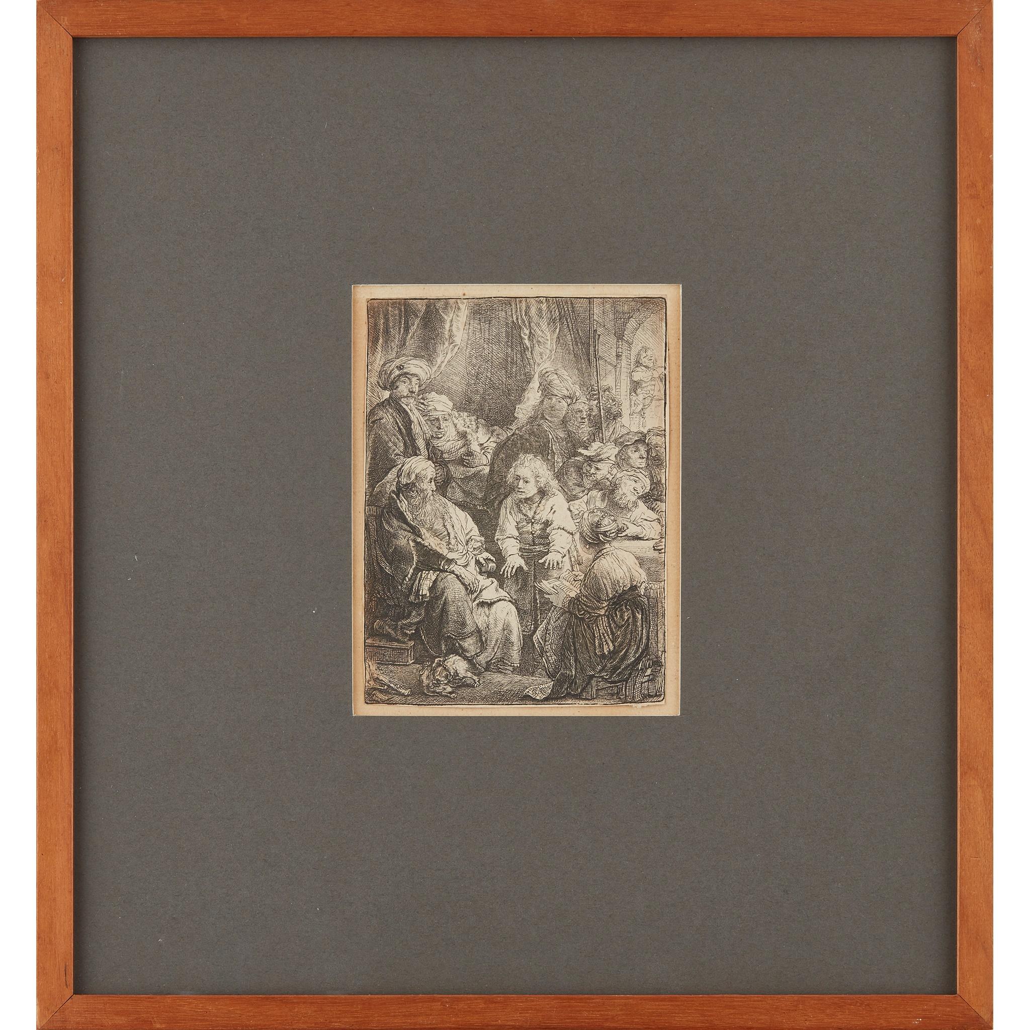 REMBRANDT VAN RIJN (DUTCH 1606-1669) JOSEPH TELLING HIS DREAMS - Image 2 of 3
