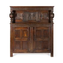 OAK COURT CUPBOARD, WESTMORLAND OR NORTH YORKSHIRE LATE 17TH CENTURY