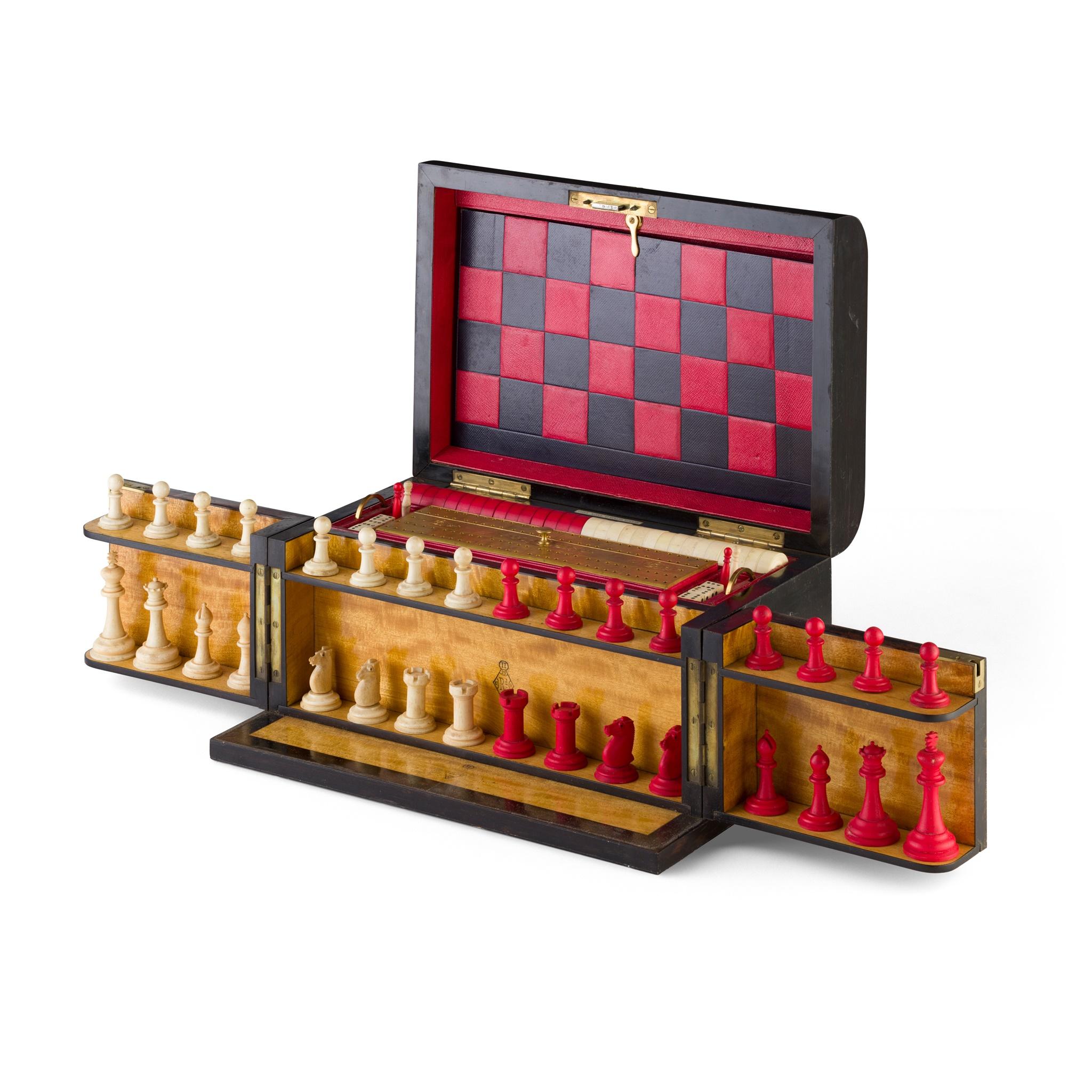 Y VICTORIAN COROMANDEL GAMES COMPENDIUM DATED 1869, BY ALLEN, 37 STRAND, LONDON