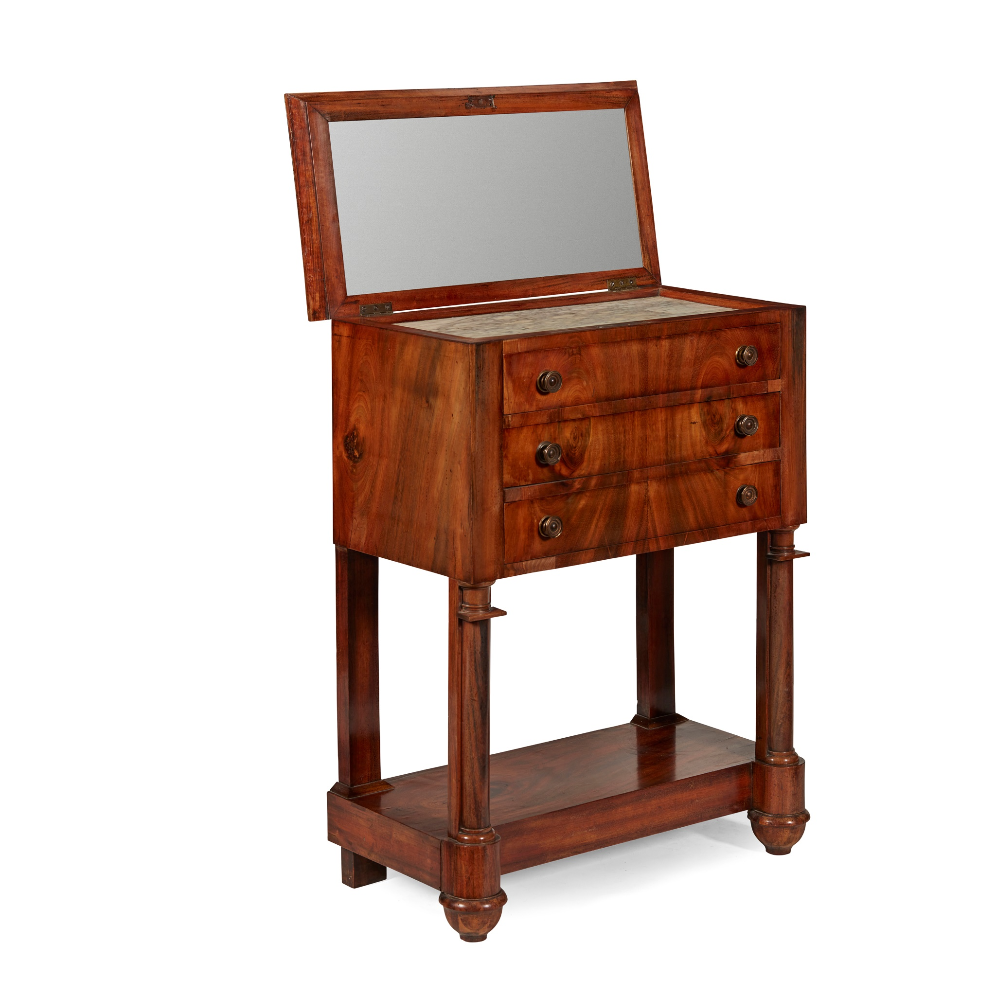 FRENCH EMPIRE MAHOGANY DRESSING TABLE EARLY 19TH CENTURY - Image 2 of 2