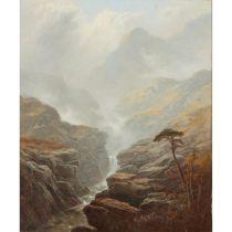 GEORGE BLACKIE STICKS (BRITISH 1843-1938) GLEN TILT