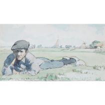 § JAMES MCBEY (SCOTTISH 1883-1959) DUTCH BOY