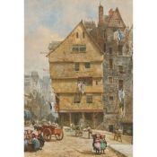 LOUISE RAYNER (BRITISH 1829-1924) BARRON'S WOOLLEN AND RAG STORE, EDINBURGH