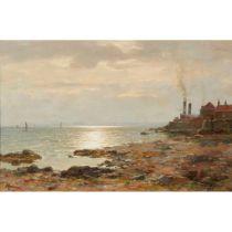 DUNCAN CAMERON (SCOTTISH 1837-1916) SUNSET ON THE EAST COAST