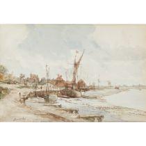 § JAMES MCBEY (SCOTTISH 1883-1959) ON THE QUAY, MALDON