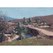 GEORGE HOUSTON R.S.A, R.S.W., R.G.I (SCOTTISH 1869-1947) THE OLD ROAD, GLENORCHY