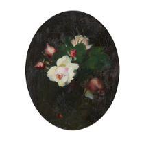 STUART PARK (SCOTTISH 1862-1933) STILL LIFE OF PINK ROSES