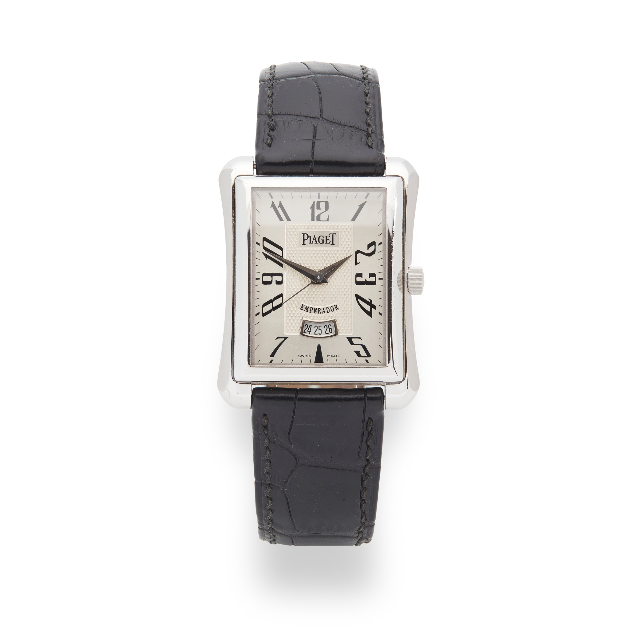 Piaget: a gentleman's white gold watch Emperador model, 18ct white gold case, automatic movement,