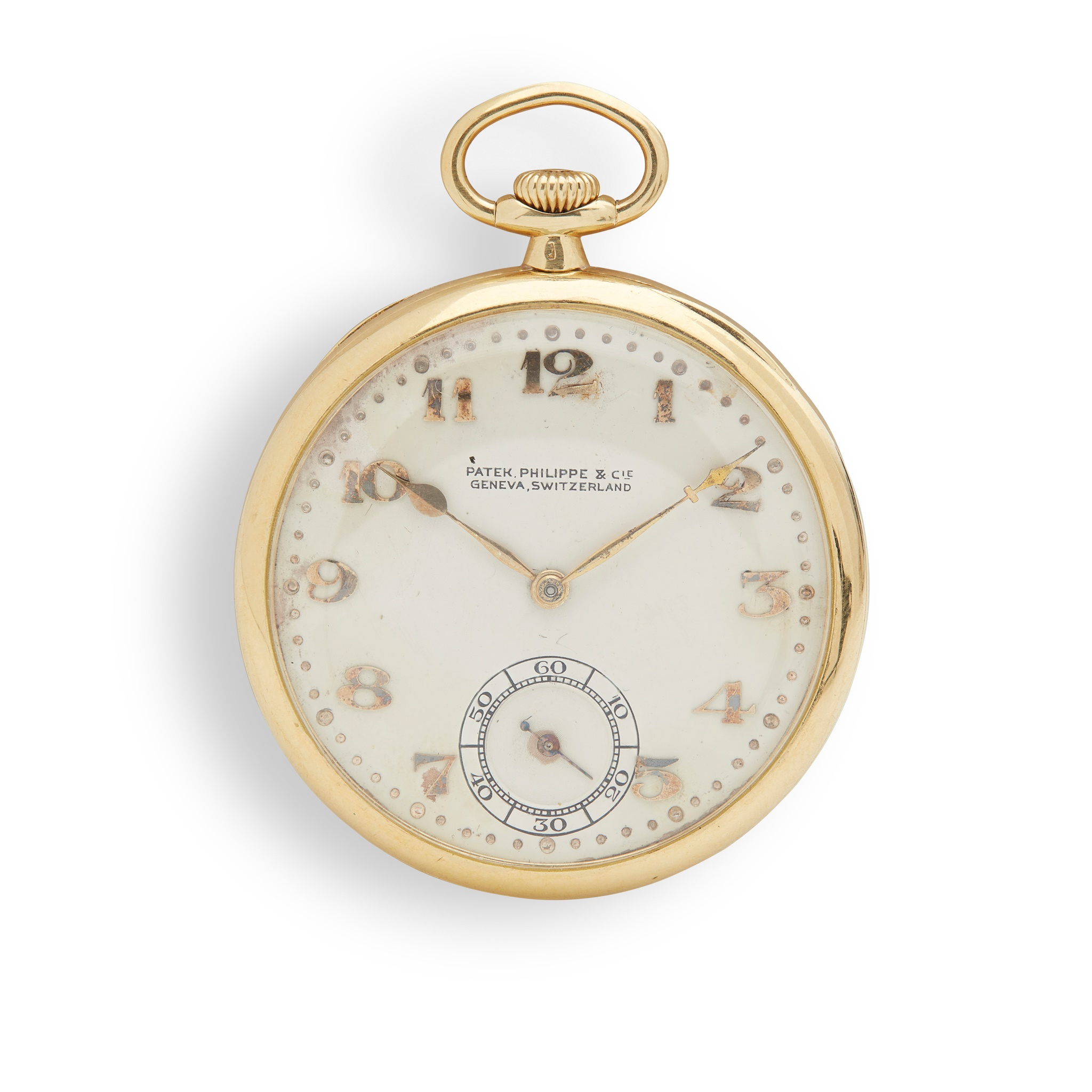 Patek Philippe: a gold pocket watch 18ct gold case, open face keyless wind, signed Patek Philippe - Image 2 of 2
