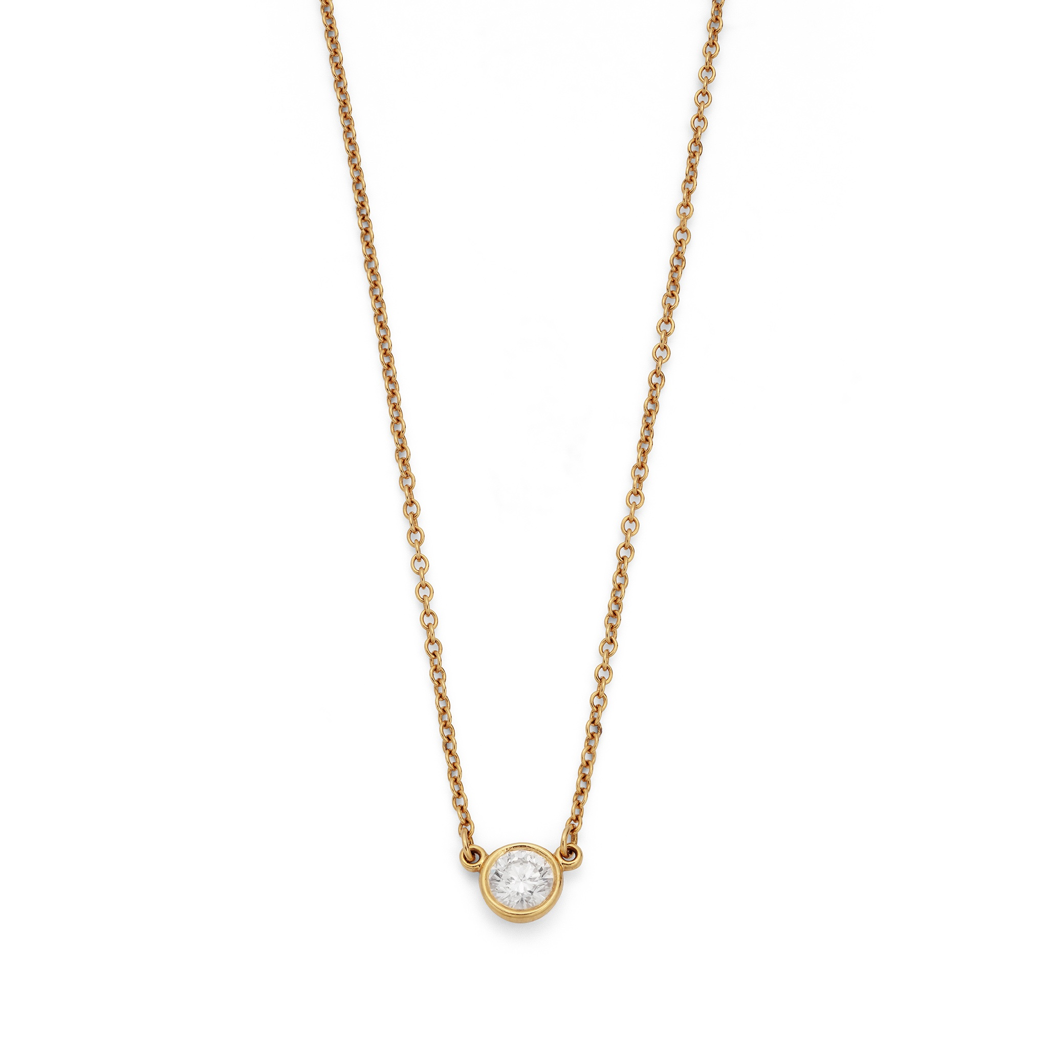 A 'Diamonds by the Yard' pendant necklace, by Elsa Peretti for Tiffany & Co. Collet-set with a - Image 2 of 2