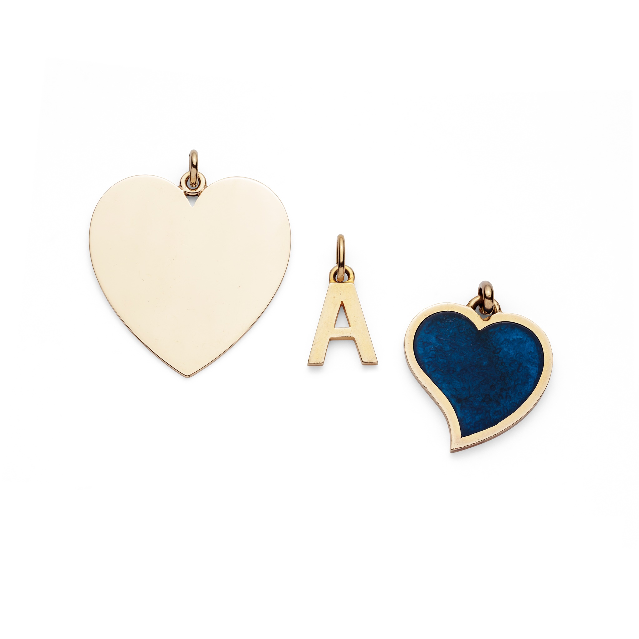 A pendant necklace, by Gucci and a pendant by Tiffany & Co. The 9ct gold collar suspending a 9ct