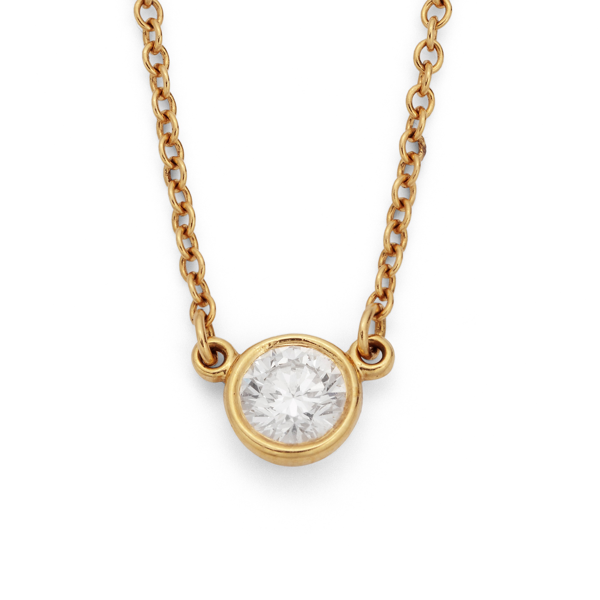 A 'Diamonds by the Yard' pendant necklace, by Elsa Peretti for Tiffany & Co. Collet-set with a