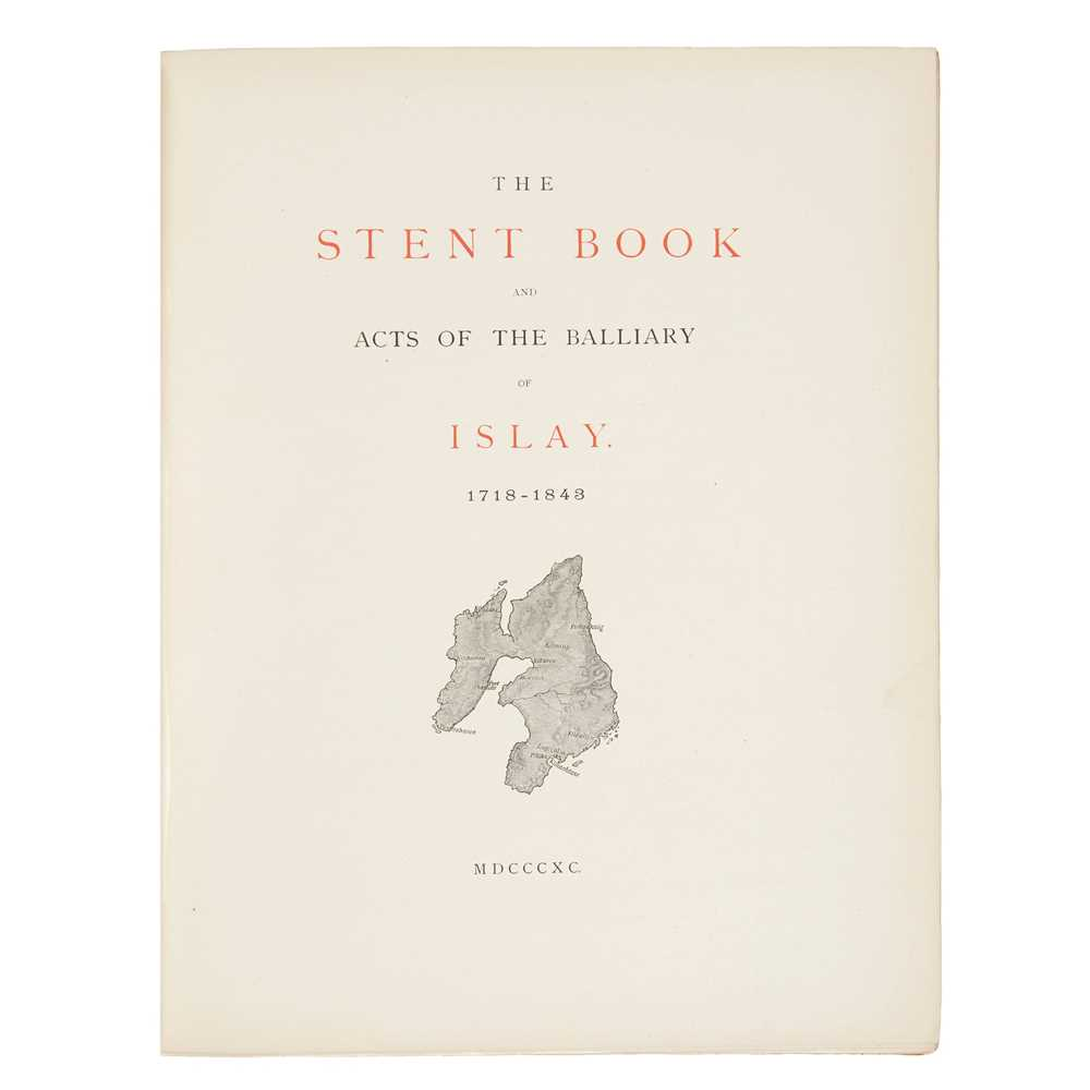 Smith, C. Gregory The book of Islay Documents illustrating the history of the island. [Edinburgh:] - Image 2 of 2