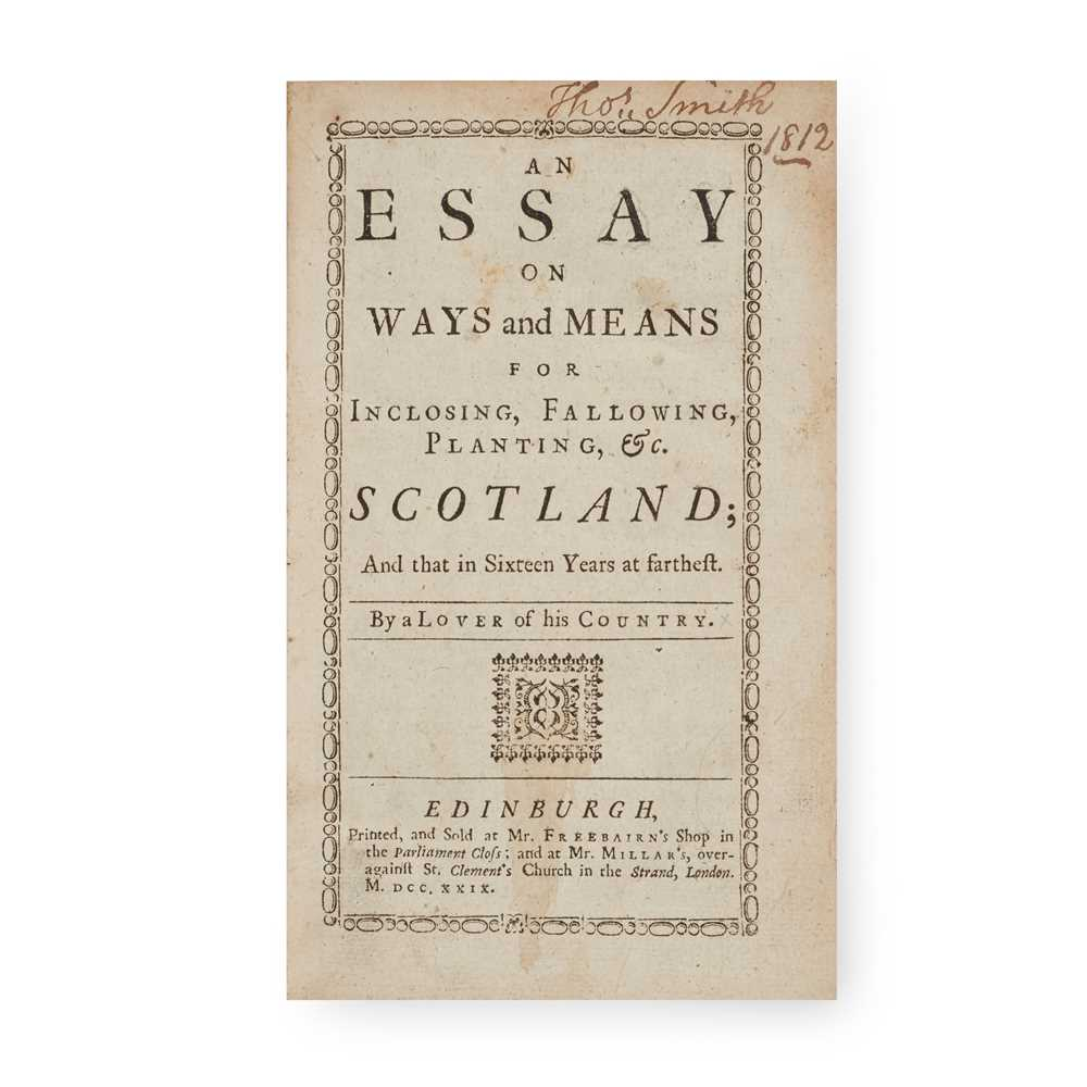 Agriculture of Scotland Mackintosh, William An Essay on Ways and Means for Inclosing, Fallowing,