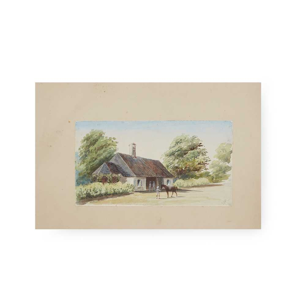 Ceylon [Sri Lanka] 19th century album of sketches and photographs 31 sketches of various sizes, - Image 4 of 4