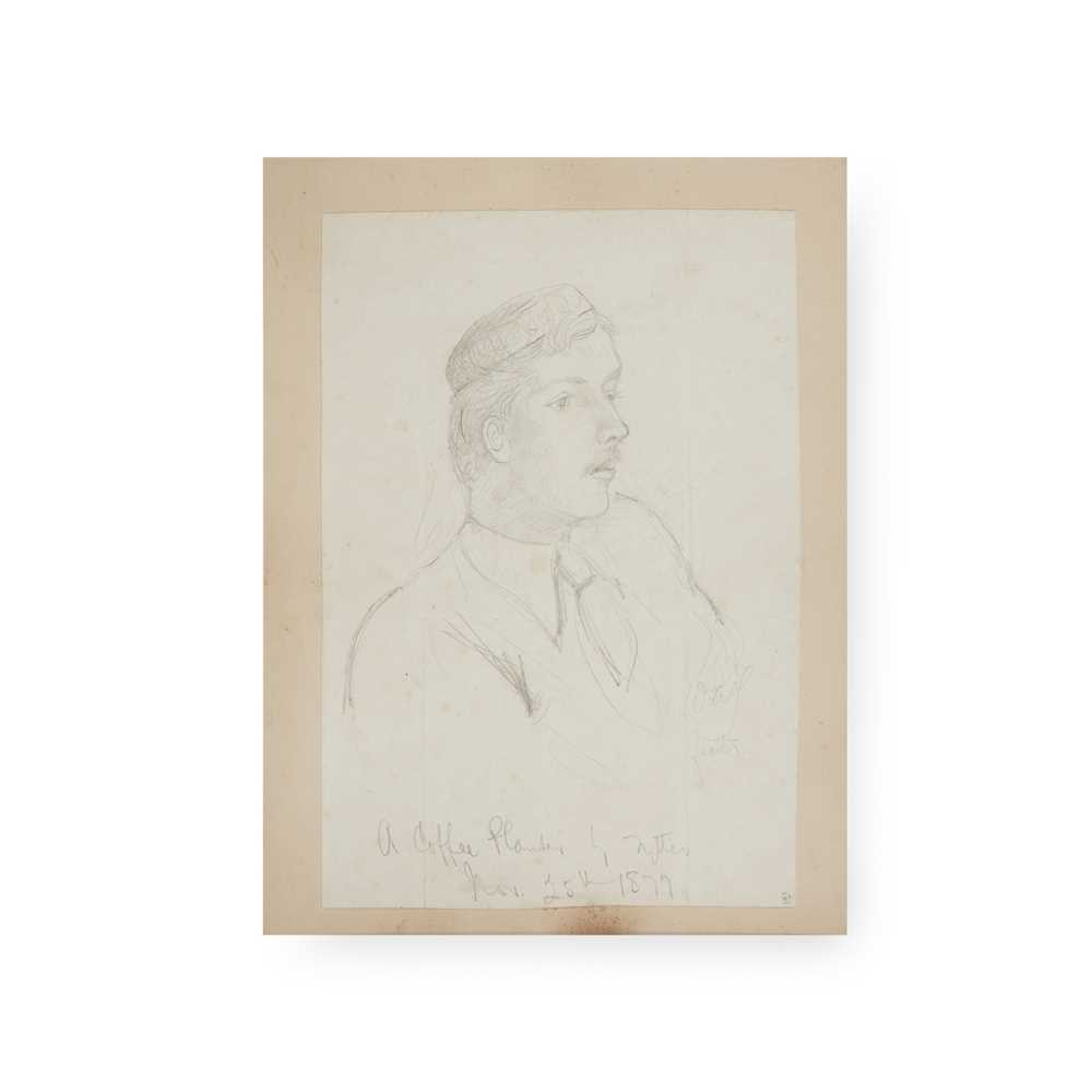 Ceylon [Sri Lanka] 19th century album of sketches and photographs 31 sketches of various sizes, - Image 2 of 4