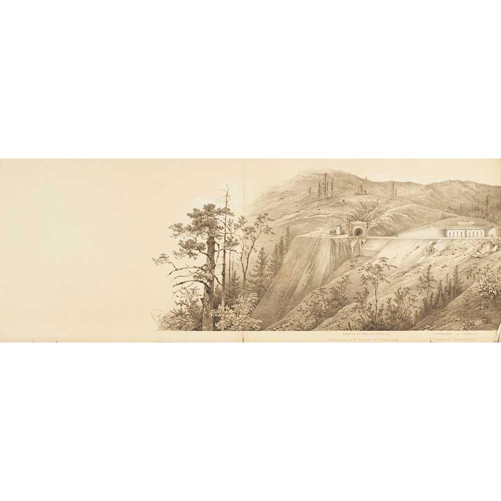 Alps, Austrian Railways, Panorama - Ghega, Karl Ritter von Malerischer Atlas der Eisenhabh über - Image 2 of 4