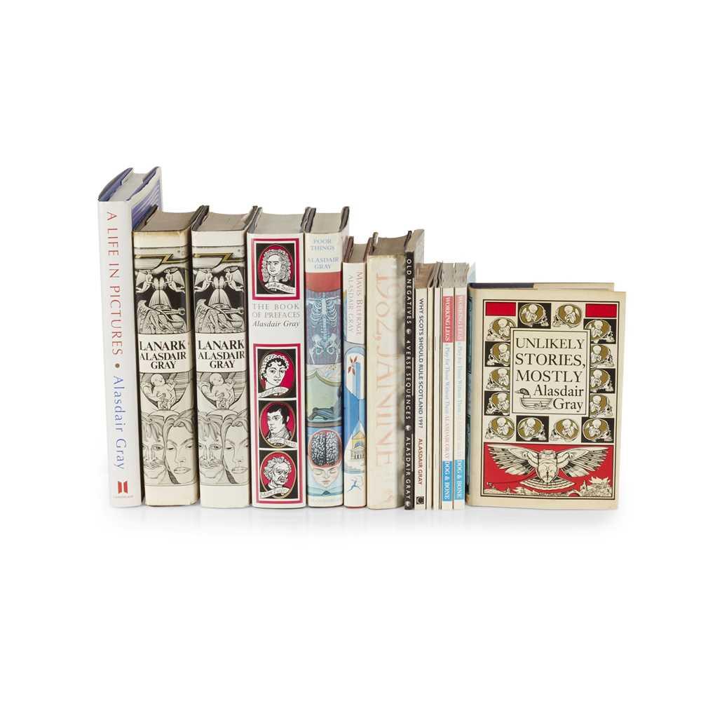 Gray, Alasdair 14 First edition presentation copies, comprising Lanark. Edinburgh: Canongate