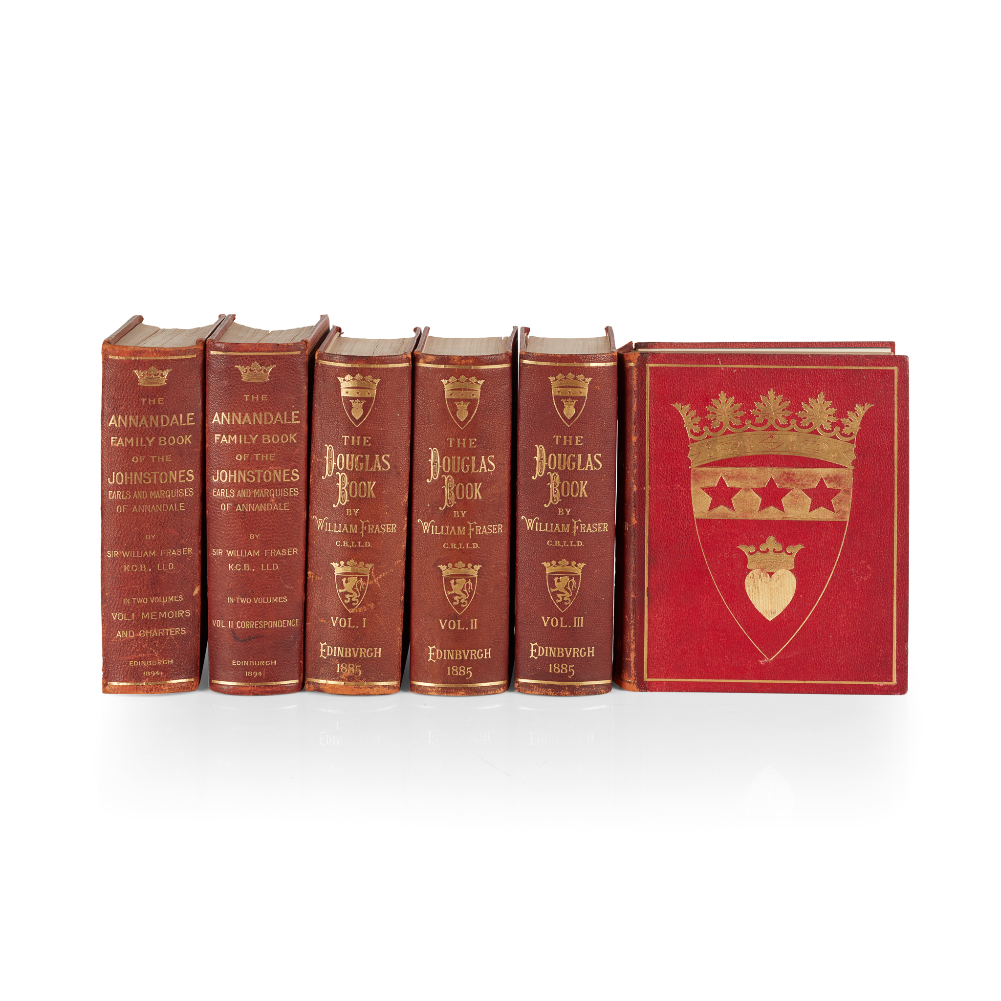 Fraser, Sir William The Douglas Book. Edinburgh, 1885 4 volumes, 4to, plates, lithographed and