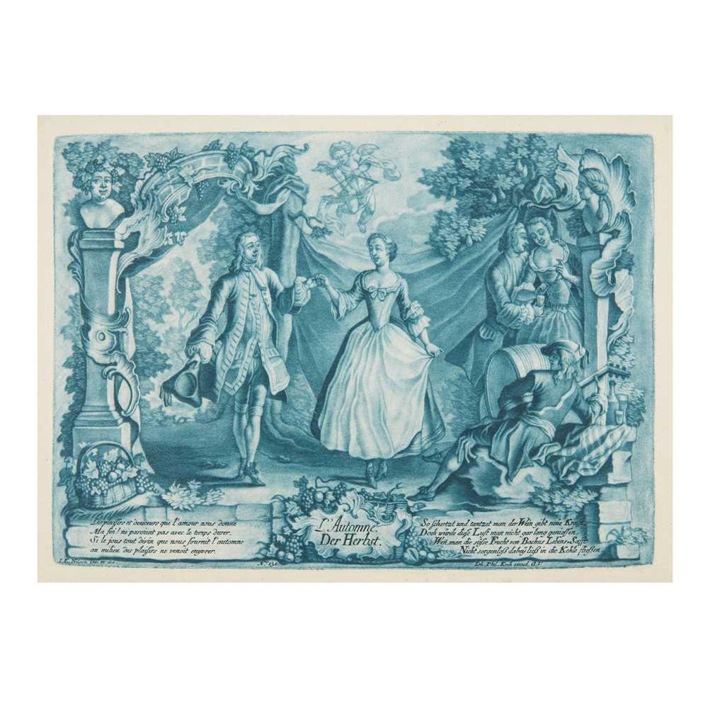Nilson, Johann Esaias (1721-1788) The Seasons [Four Seasons:] Le Printemps/Der Frühling; L'Eté/Der - Image 2 of 4