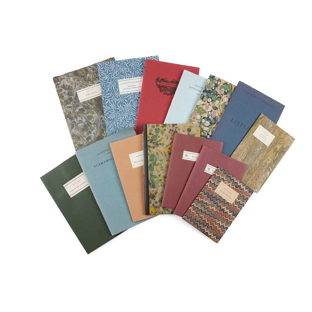 Tragara Press 14 volumes Gray, John. The Kiss. 1983, number 29 of 30 copies; Sitwell, Sacheverell.